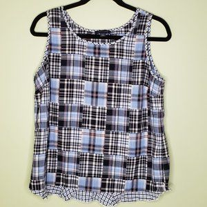 TOMMY HILFIGER • patchwork tank top sailaway plaid